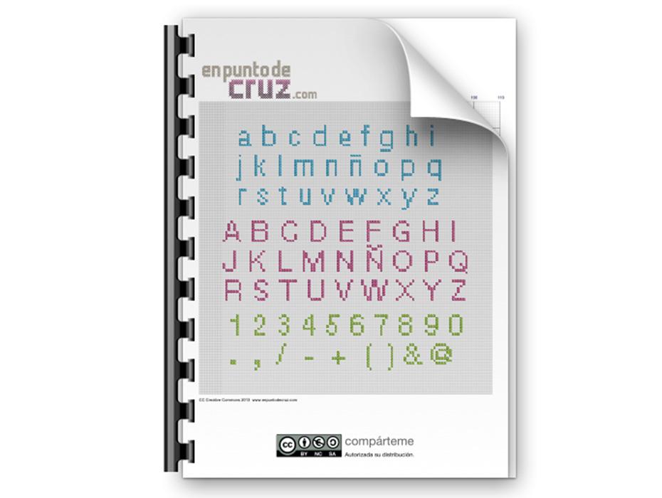 Patron punto de cruz gratis abecedario