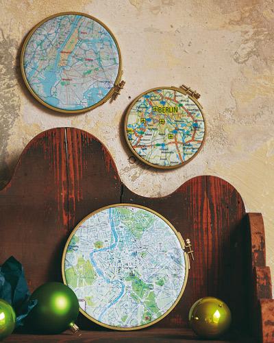 Bastidores con mapas