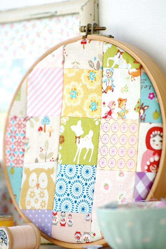 Bastidor con patchwork