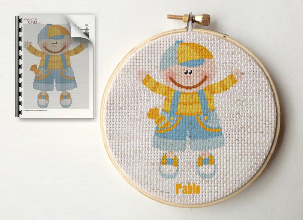 Esquema punto de cruz gratis semanal: Muñeco | EnPuntoDeCruz.com