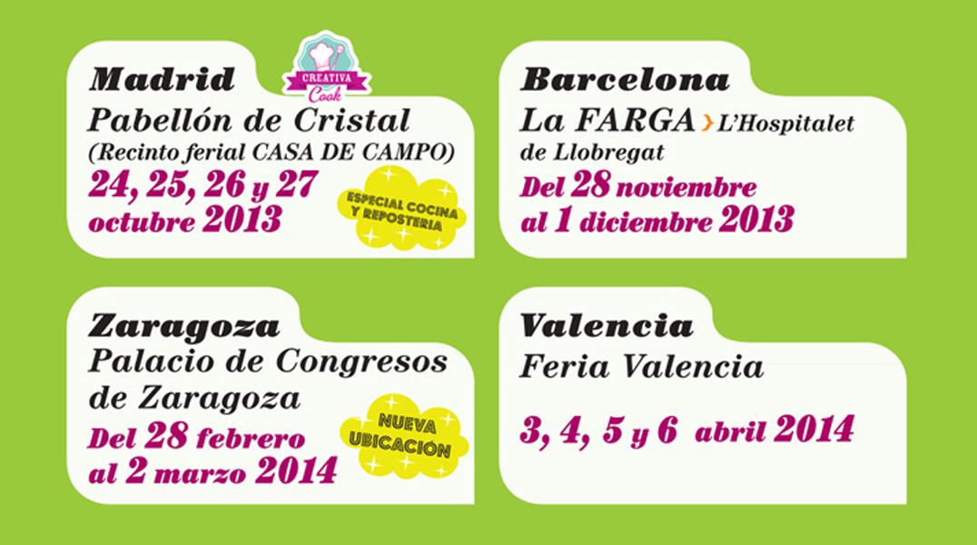 Fechas de Salón Creativa 2013-2014