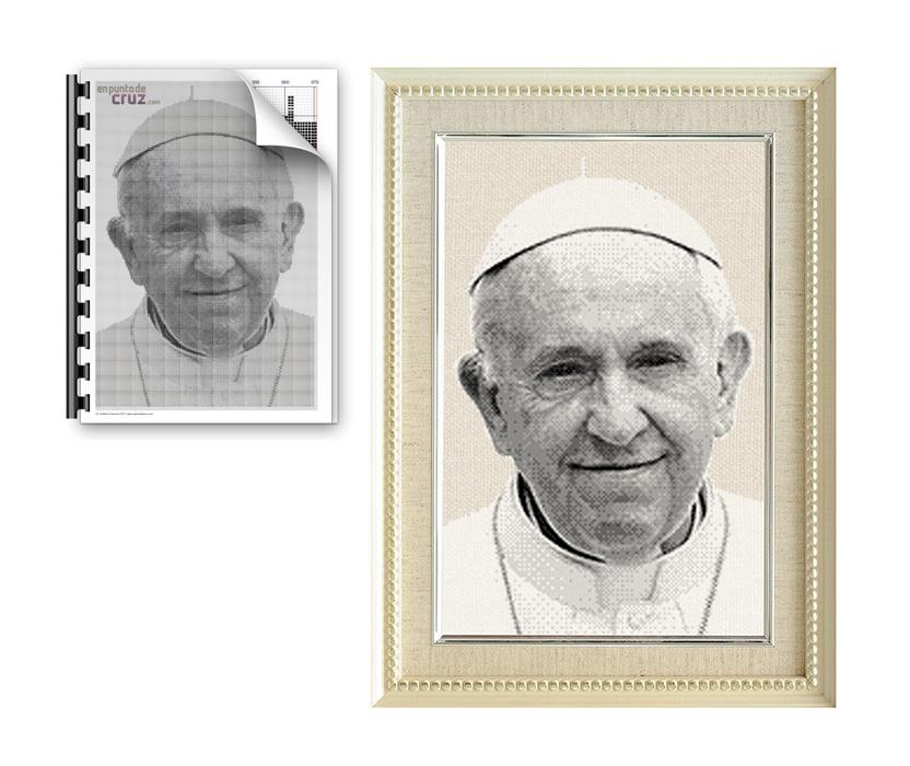 Esquema punto de cruz gratis semanal: Papa Francisco