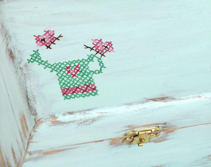 Cajas decoradas para guardar tus madejas