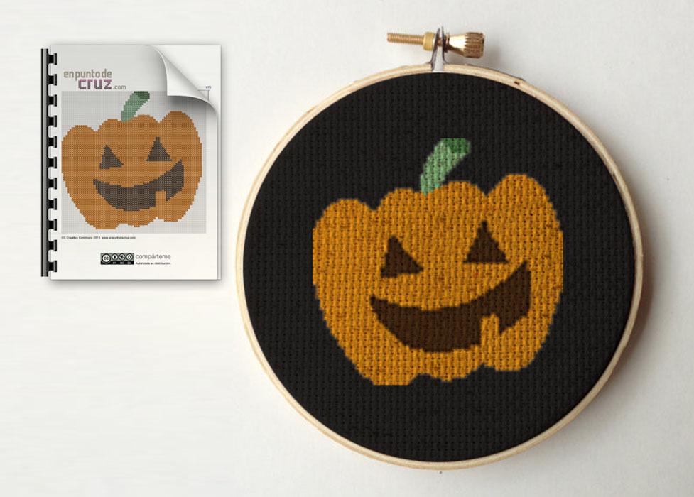 Gráfico punto de cruz Halloween