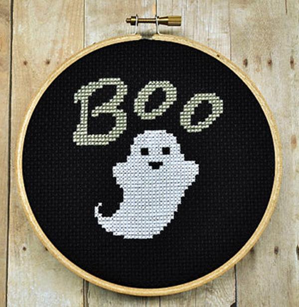 Fantasma punto de cruz Halloween