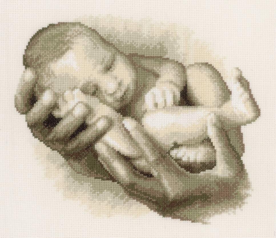 bebé punto de cruz