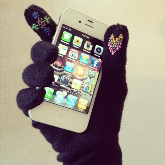 Personaliza tus guantes de pantalla táctil