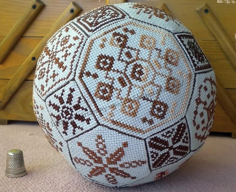 esfera en punto cruz