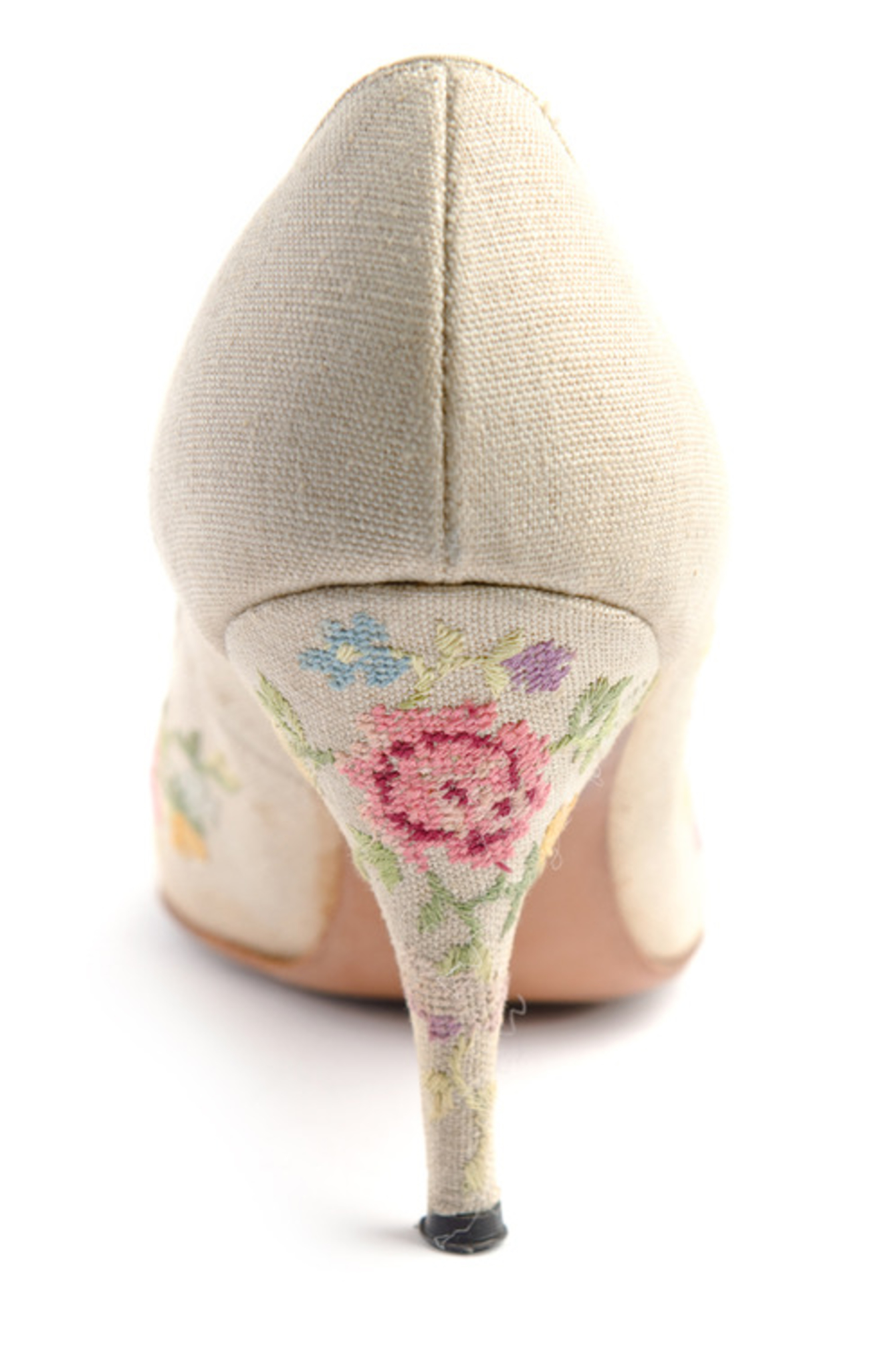 Zapatos de novia punto de cruz