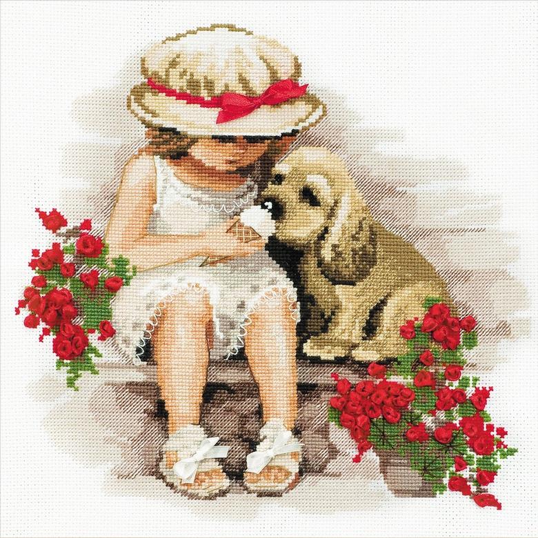 Kit niña con perrito