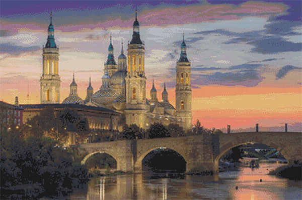 Patrón punto de cruz del Pilar de Zaragoza
