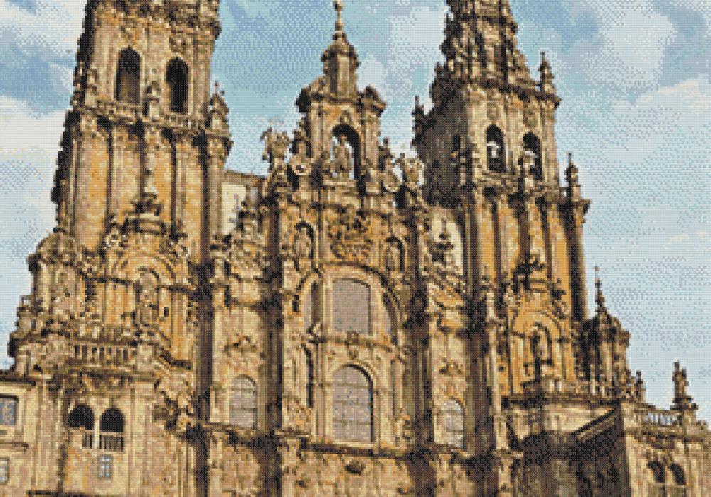 Punto de cruz de la Catedral de Santiago