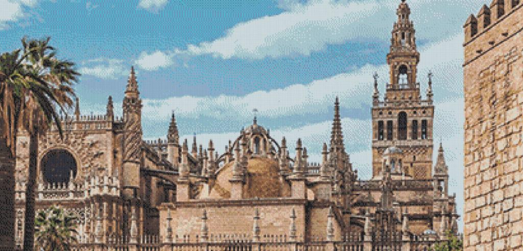 Patrón punto de cruz de La Giralda de Sevilla