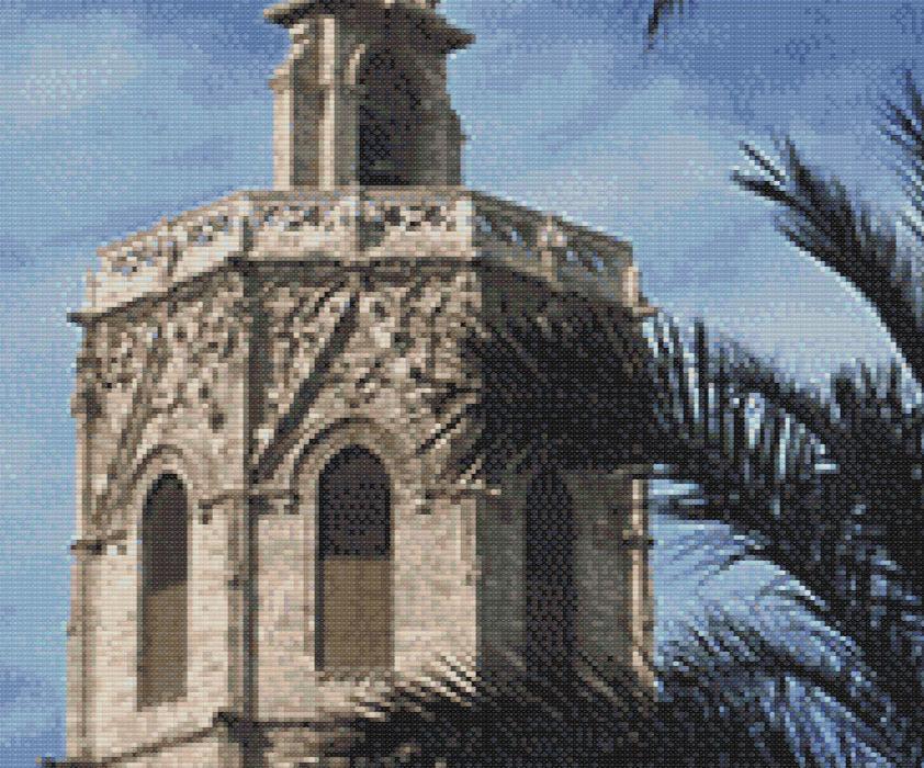 Patrón punto de cruz del Miguelete o Micalet de Valencia