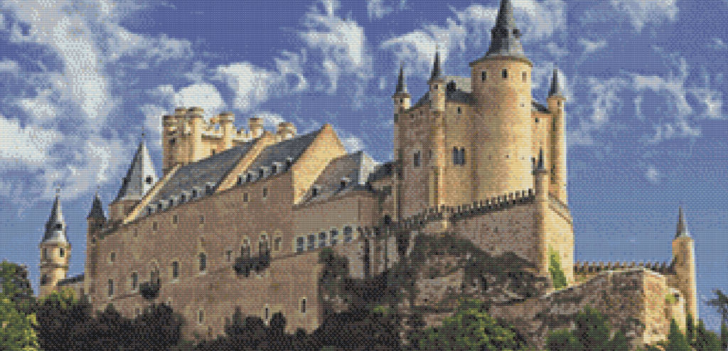 Punto de cruz Alcázar de Segovia