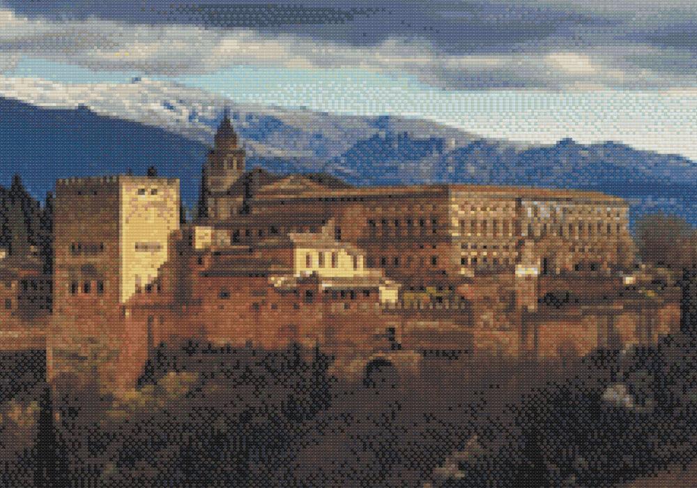Punto de cruz de la Alhambra de Granada