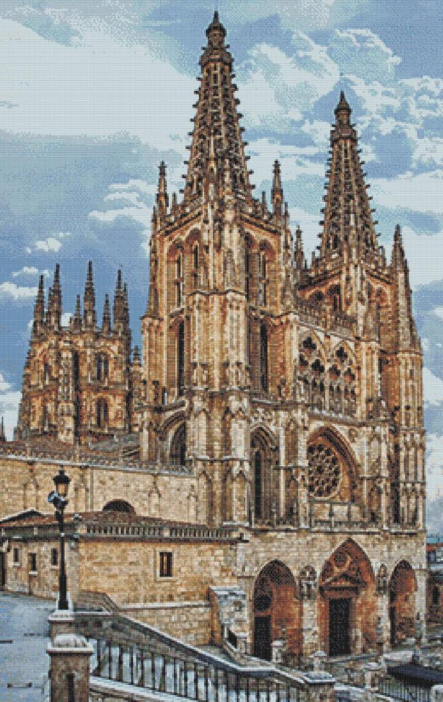 Patrón punto de cruz de la Catedral de Burgos