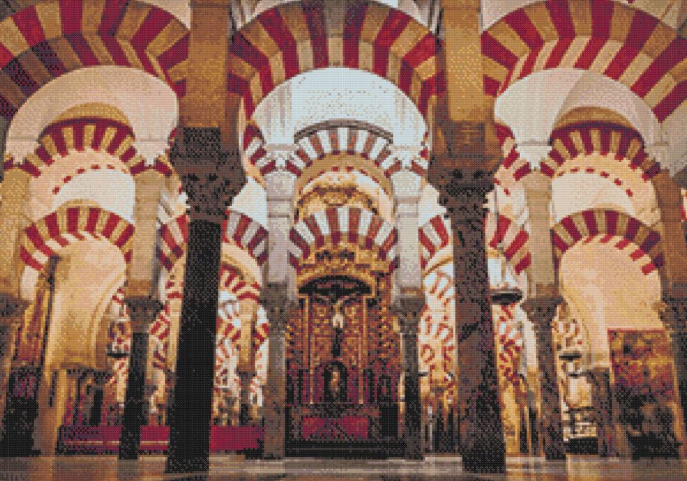 Patrón punto de cruz Mezquita de Córdoba