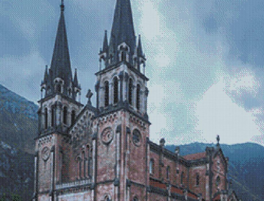 Punto de cruz de la Basílica de Covadonga