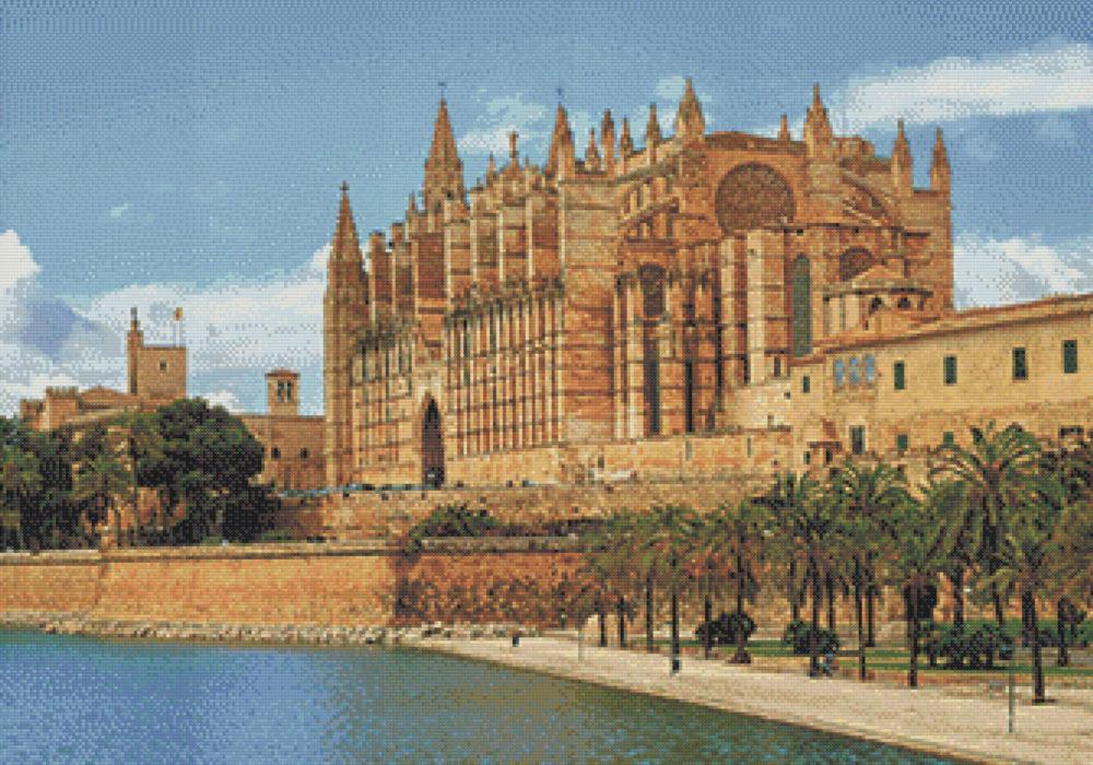 Patrón punto de cruz Catedral de Mallorca