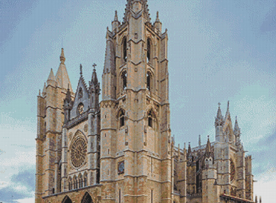 Punto de cruz Catedral de León