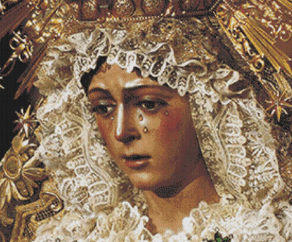Punto de cruz Virgen de la Macarena