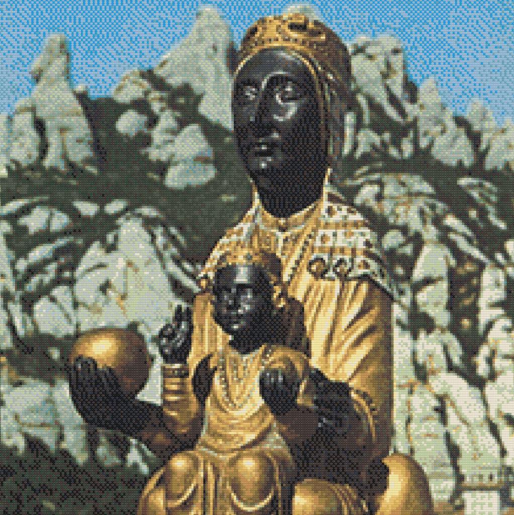 Punto de cruz Virgen de Montserrat