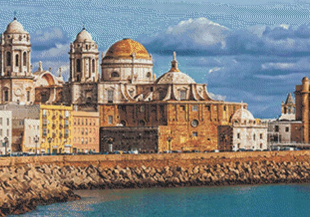 Patrón punto de cruz Catedral de Cadiz