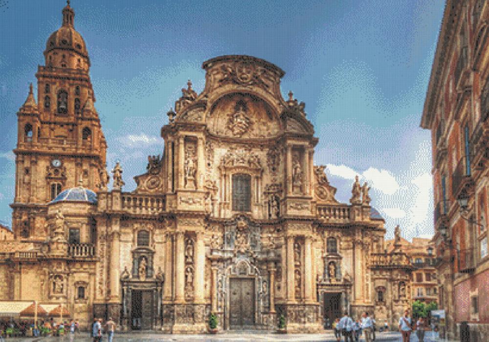 Patrón punto de cruz Catedral de Murcia