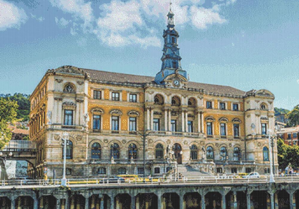 Patrón punto de cruz Ayuntamiento Bilbao