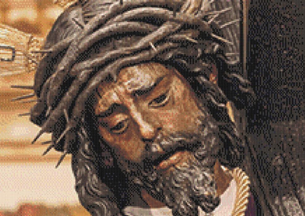 Patrón punto de cruz de Jesús Del Gran Poder de Sevilla