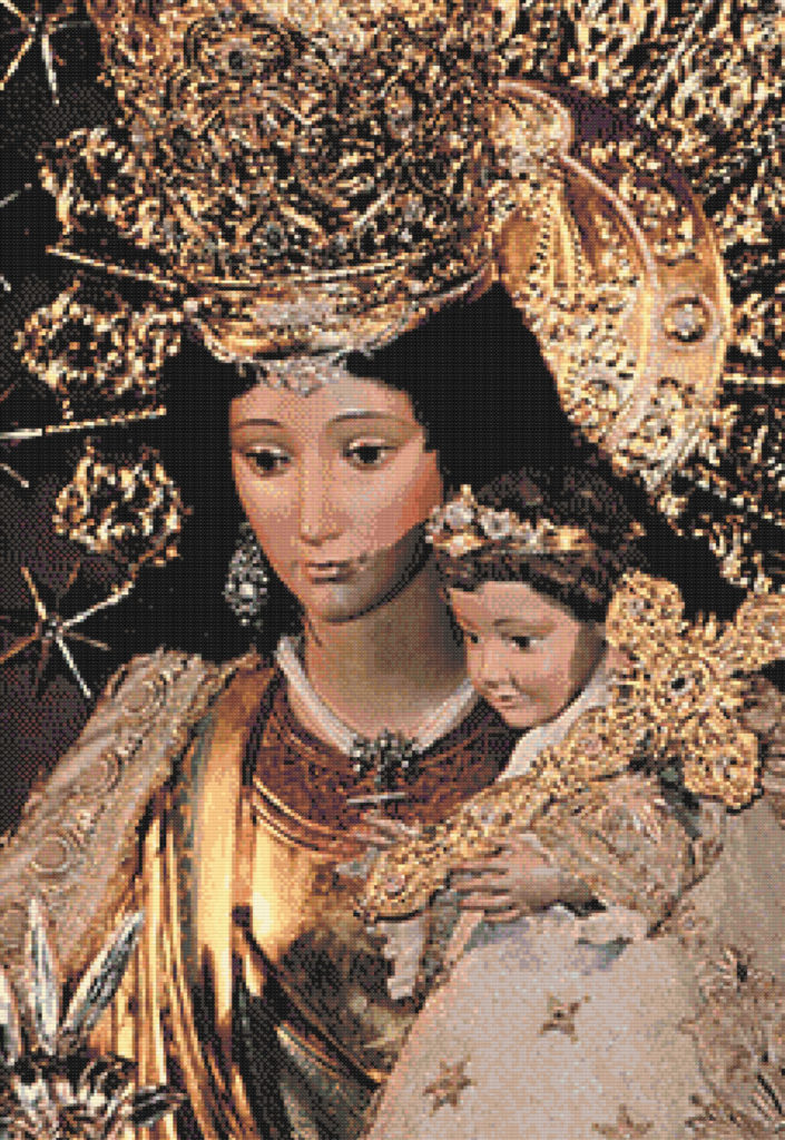 Patrón punto de cruz de la Virgen de los Desamparados