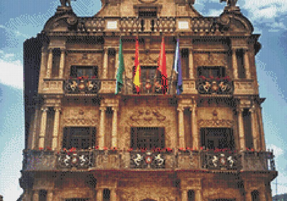 Patrón punto de cruz del Ayuntamiento de Pamplona