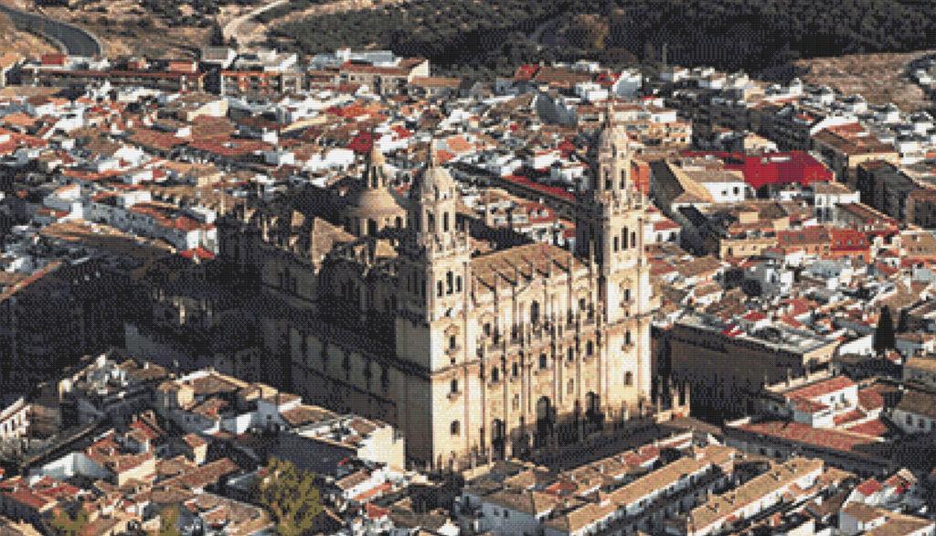 Patrón punto de cruz de la Catedral de Jaén