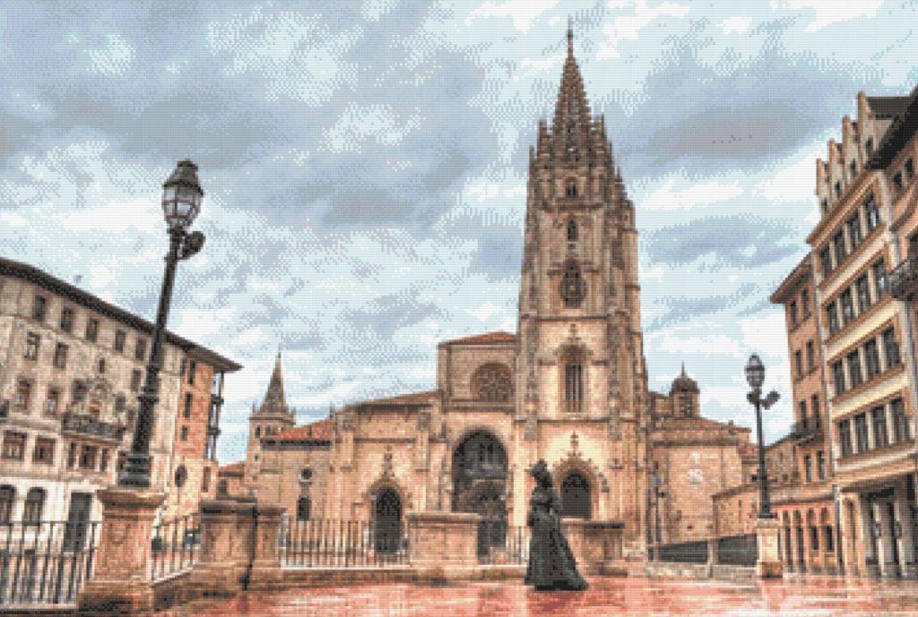 Patrón punto de cruz de la Catedral de Oviedo