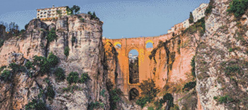 Patrón punto de cruz del Puente Nuevo de Ronda