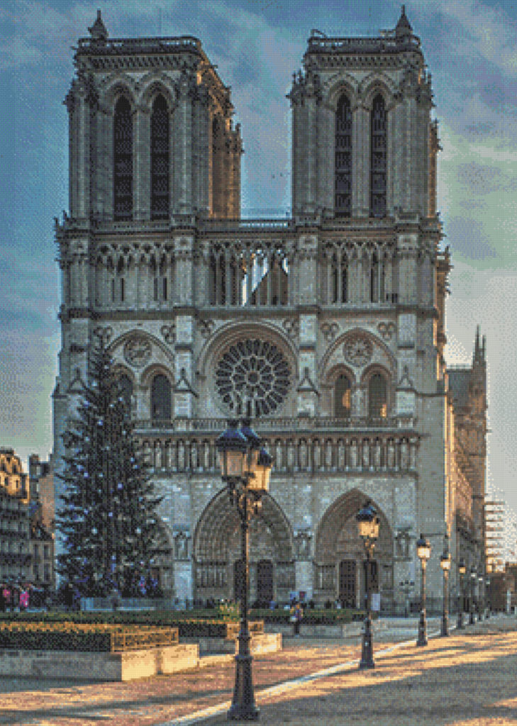 Punto de cruz Notre Dame