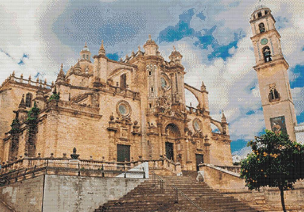 Punto de cruz de la Catedral de Jerez
