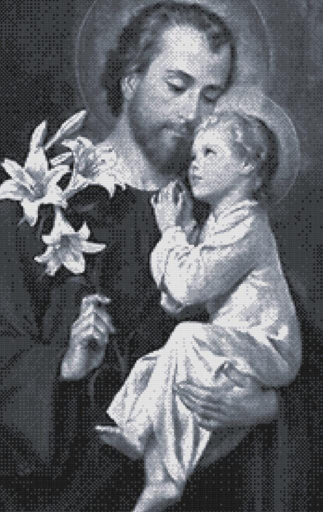 Punto de cruz San José